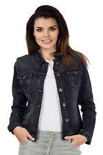 Unbranded Denim Hip Length Button Coats & Jackets for Women