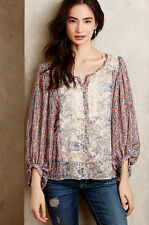 New $118 HD IN PARIS ANTHROPOLOGIE CHINOISERIE PEASANT TOP BLOUSE SHIRT SZ 2