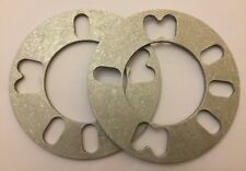 2 X 5mm UNIVERSAL ALLOY WHEEL SPACERS SHIMS FOR MINI R50 R52 R53