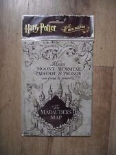 Harry Potter Tin Metal Wall or Door Sign The Marauder's Map