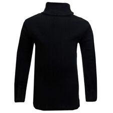 Vêtements noir à manches longues pour fille de 2 à 16 ans en 100% coton