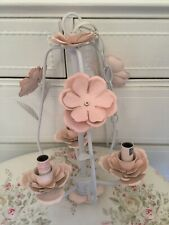 SIMPLY SHABBY CHIC PINK WHITE FLORAL CHANDELIER LAMP RACHEL ASHWELL