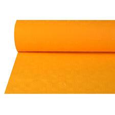 4 Papiertischtuch mit Damastprägung 50 m x 1 m orange Party Tischdecke