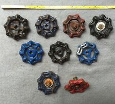 Lot Of 9 Vintage Heavy Metal Water Faucet Handles Knobs Valves Steampunk Lot#14