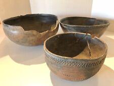3 Very Large Prehistoric Salado Bowls Circa 1200 Ad Ex McCormick Collection -