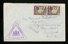 Postal History Netherlands Antilles Scott #C23(2) Censor 1942 St. Nicolaas NY