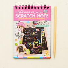 Kawaii Drawing DIY Scratch Notebook Creative Magic Book School Supplies For Kids