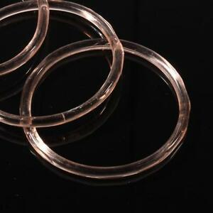 """Lot (4) 2"""" antique Czech rosaline pink glass bangles hoops earring beads"""
