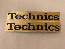 Technics  Sticker -  Decals - Pimp - Mod - Brushed Gold X 2