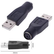 2Pcs PS / 2 Stecker auf USB Buchse Adapter Konverter für PC Tastatur Maus Mä BNV
