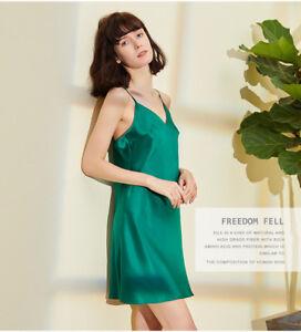 Women's 100% Pure Silk Chemise Sexy Slip Silk Sleepwear