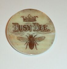 """Wonderful Busy Bee - Crown - MOP Button Mother of Pearl Shank Button 1+3/8"""""""
