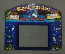 Williams Video Slant Top Slot Machine Glass REEL 'EM IN - CAST FOR CASH!