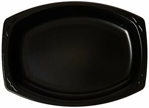 """Black Foam 7""""x 9"""" Disposable Polystyrene Platters Plates Party Wedding Catering"""