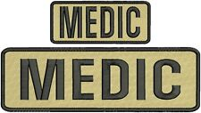 MEDIC Embroidery Patches 3x10 and 2x4 hook Tan