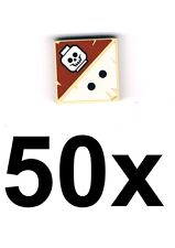 LEGO 50 x Beige Tile 2x2 with Print Skull and Two Dots Tan Tile NEW