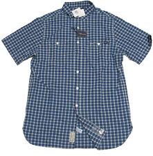 Polo Ralph Lauren Indigo Blue Short Sleeve Slim Custom Fit Denim Chambray Shirt
