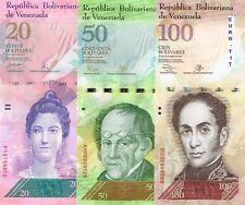 A SAISIR   LOT DE  6  X  BILLET   DU    VENEZUELA  .  AMERIQUE DU SUD