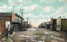 Street Scene, A Quiet Day in Seward Ak 1910