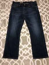 adriano goldschmied mens denim jeans dark wash straight cut - the protege 32x32