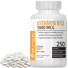 Bronson Quick Release Vitamin B-12 1000 mcg Boost Energy, 250 Tablets