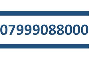 999088000 SIM CARD GOLD EASY PLATINUM VIP MOBILE PHONE NUMBER 07999088000