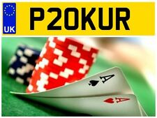 P20 KUR CASINO ACE ONLINE POKER PLAYER TEXAS HOLD EM CARDS PRIVATE NUMBER PLATE