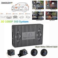 360° 1080P Car DVR Bird View Panoramic System w/ Seamless Night Vision 4 Cameras