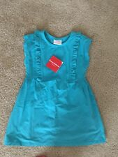 NWT Hanna Andersson Blue Ruffle Bodice Dress, Size 100. ~Very Soft!~*flattering*