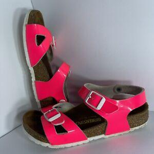 BIRKENSTOCK Kids Size 32 Pink Flip Flop Girls Sandals