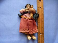 Vintage Small Composition Southwest Doll with Baby