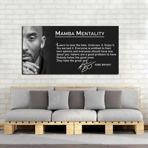 Kobe Bryant Quote Poster, Kobe Bryant Canvas, Mamba Mentality Definition