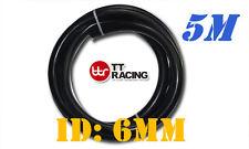 "6mm 1/4"" Silicone Vacuum Tube Hose Silicon Tubing 15.5ft 5M 5 Meters Black"