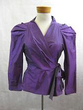 Carla Zampatti Size 14 Purple 2-Piece Skirt Suit