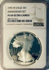 1995-W  American Silver Eagle - NGC Proof-69 Deep Cameo - Proof-69 Pristine