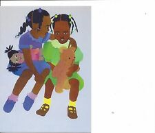 African American Girls Best Friends Notecards 2 Blank Cards Envelopes Burrowes