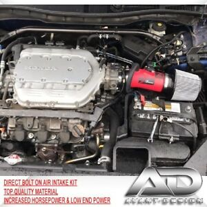 FOR 07-14 ACURA TL 08-12 ACCORD CROSSTOUR 3.5 V6 AF DYNAMIC AIR INTAKE RED