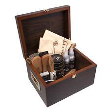 Selvyt Luxury Shoe Care Walnut Veneered Valet Gift Box Filled