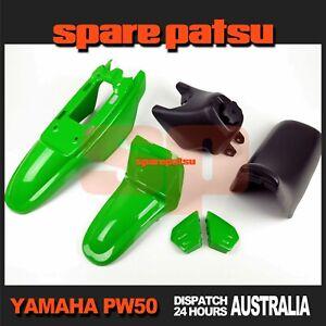 Yamaha Pw50 Peewee 50 Plastics Fender Cover(GREEN)+Fuel Tank(BLACK)+Seat(BLACK)