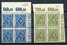 Reich 228 - 229  2 x POR in blokken van vier postfris