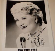 PATTI PAGE /   8 X 10  B&W  AUTOGRAPHED  PHOTO