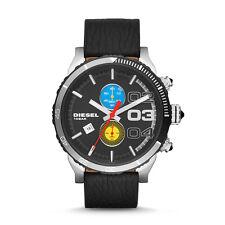 Diesel DZ4331 Double Down Renzo Edition Herren Chronograph Schwarz Leder Uhr