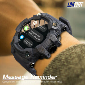 LOKMAT ATTACK Smart Watch Blood Pressure Heart Rate Monitor Fitness Tracker