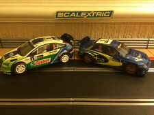 Scalextric 4x4 Ford Focus & Subaru Both Fully Serviced & Fitted with New Braids