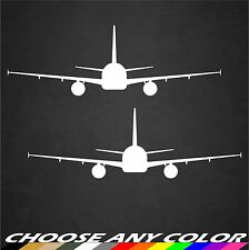 """2 - 6""""x2"""" Airbus A320 Aircraft Decals Stickers Graphics Window Airplane Pilot"""