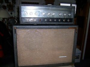 Sears Silvertone Model 1484 Twin Twelve Tube Head amp and cabinet