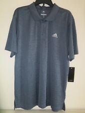Adidas Golf Polo Shirt Mens Size Xlarge Heathered Blue