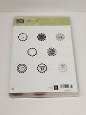 """Stampin Up A Round Array Stamp Set & Coordinating 7/8"""" Circle Scallop Punch"""