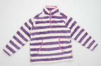 Lazy Jacks Womens Size M Striped Multi-Coloured Fleece (Regular)