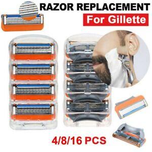 4/8/16Stück 5-lagig Rasierklinge für Gillette Fusion Rasierklingen Shaver Blades